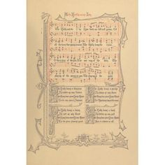 Holly & the Ivy Traditional Old English Carols set to Music 1870s Canvas Art - (18 x 24)