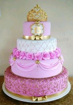 Remarkable Princess Birthday Party Ideas for 6 year-olds Pretty Cakes, Cute Cakes, Beautiful Cakes, Amazing Cakes, Quince Cakes, Quinceanera Cakes, Sweet 16 Cakes, Girl Cakes, Fancy Cakes