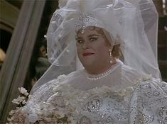 """Here's John Candy in a wedding dress.   The 16 Most Traumatic Things About """"Nothing But Trouble"""""""