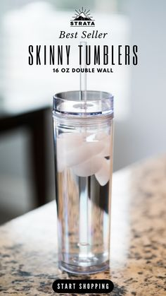 Shop Now! STRATA CUPS 16oz Clear Skinny Tumblers With Double Wall Plastic & FREE Straw Cleaner! (12 pack)   Whether you're drinking your morning coffee, evening tea, cold drinks or something in between – these cups are for you! Travel Cup Set for Coffee, Water, Tea, Lemonade, Smoothie • Reusable Cup With Straw | Vinyl DIY Gifts  • epoxy tumbler • tumbler cups • water bottles Diy Tumblers, Acrylic Tumblers, Plastic Tumblers, Personalized Tumblers, Tumblers With Lids, Custom Tumblers, Mom Tumbler, Tumbler Cups, Wedding Day Gifts