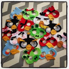 3 Little Things...: No Sew Angry Birds Masks