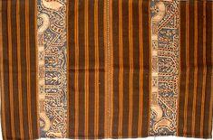 Lampung: A tapis sarong with ship motif