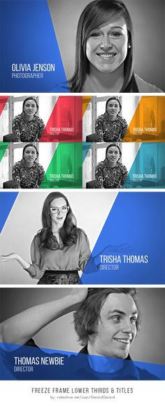 Clean & Corporate Freeze Frame Lower Thirds After Effects Template - Titles