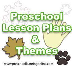 Preschool theme lesson plans, Kindergarten Lesson Plans & Pre K Themes For Kids!