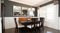 Beautiful dining area with large windows in New Lenox, IL model home.