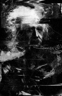 Albert Einstein Print by Nicebleed - Trending Gadgets On Petagadget Graphic Design Typography, Graphic Design Illustration, Graphic Prints, Illustration Fashion, Glitch Wallpaper, Glitch Art, Glitch Series, E Mc2, Albert Einstein