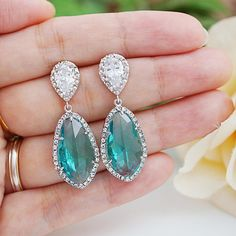 Wedding Jewelry Bridal Earrings Bridesmaid by earringsnation
