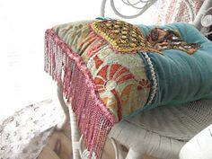 SALE  Baselisk Fusion Cushion Antique Velvet by AllThingsPretty, $240.00
