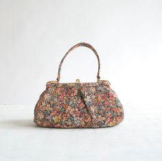 Vintage 50s Tapestry Bag / 1950s Carpet Bag / by GingerRootVintage, $49.00