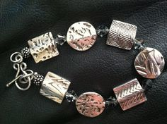 DIY Silver clay beads, sterling silver findings and crystals!