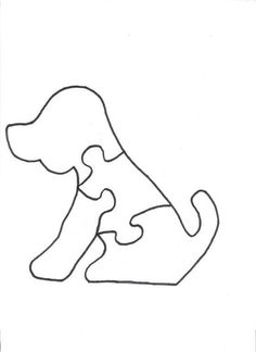 Marmaduke the Dog Puzzle Pattern Quiet Book Patterns, Felt Patterns, Wood Patterns, Stuffed Toys Patterns, Dog Puzzles, Wooden Jigsaw Puzzles, Scroll Saw Patterns Free, Animal Puzzle, Felt Quiet Books