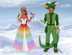 So these outfits are for Adam the Genie of the Diamond bottle and Bumblebee Regent. (man the dress has my hand paralyzed in fear. Countess of Color Mascarade Prince And Princess, Princess Zelda, Disney Princess, Azalea Dress Up, Dragon Costume, Doll Divine, Lady In Waiting, Cute Dragons, Dress Up Dolls