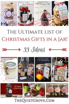 The Ultimate List of Christmas Gifts in a Jar! (33 Ideas)