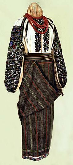 Woman's Sorochka from Bukovyna Romania Folk Costume Dress Attire, Work Attire, Traditional Skirts, Ukrainian Dress, Folk Fashion, Folk Costume, Culture, How To Wear, Clothes