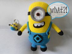 * a simplified version: Minion key fob (without legs) [new updated, 3rd Aug 2013]  Finished products listed for International purchase ...