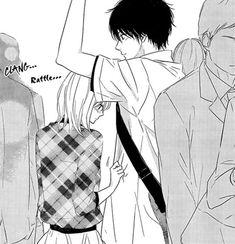 Manga: Haru Matsu Bokura discovered by Anime Couple Kiss, Manga Couple, Manga Boy, Manga Anime, Anime Art, Anime Boys, Basketball Manga, Manhwa, Romantic Anime Couples