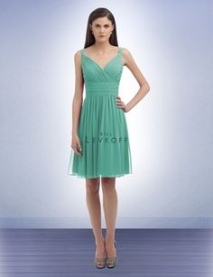 Dress for @Lily Donn's wedding: Bill Levkoff (D'zage) Bridesmaid Dress Style 325 in Glacier.