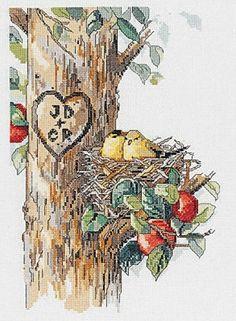 Birds Of A Feather Cross Stitch Kit - Janlynn 023-0569