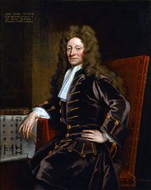 1711.Christopher Wren by Godfrey Kneller,Sir Christopher Wren PRS (30.10.1632[O.S.20.10.]-8.03.1723 [O.S. 25.02.])is one of the most highly acclaimed English architects in history. He was accorded responsibility for rebuilding 52 churches in the City of London after the Great Fire in 1666, including what is regarded as his masterpiece,St.Paul's Cathedral,on Ludgate Hill,completed in 1710.