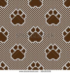 strikket sømløs mønster pads