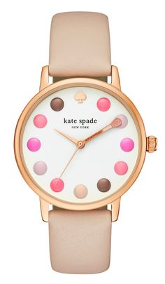 Happy hour takes on new meaning with this whimsical Kate Spade New York Makeup  Palette Metro Watch! It's the perfect gift for  make-up lovers! #kate_spade #katepade #accessories #makeup #fashion #fashionista #watch #makeup_palette #color #colors #colorful #pastel #pastels #blush #goldrose
