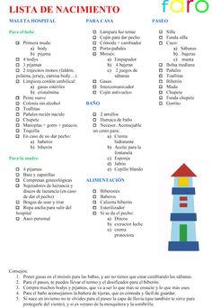 TIENDAS FARO: LA LISTA DE NACIMIENTO. Prepara tu próxima maternidad con la lista de nacimiento de tu bebé. Más información en cochecitosbebe.blogspot.com.es/2012/06/la-lista-de-nacimiento.html Baby Boy Room Decor, Baby Room Design, Pregnancy Hospital Bag, Pregnancy Tips, Baby Mine, Mom And Baby, Baby Checklist, Bebe Baby, Future Mom