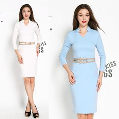 Fashion New Women's Celeb Belted V-Neck Tunic Clubwear Party Fitted Bodycon…