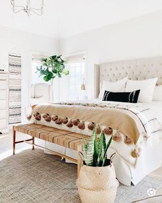 Home Interior Living Room .Home Interior Living Room Home Decor Bedroom, Bedroom Table, Bedroom Decor Natural, Couple Bedroom Decor, Bedroom Benches, Natural Home Decor, Decor Room, Bedroom Themes, Bedroom Bed