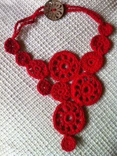 Crochet Necklace Assymetrical  PDF PATTERN Easy for by Yarnmade, $3.60