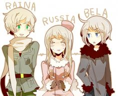 ... Hetalia, Ukraine (Male), Belarus (Male), Russia (Female), Soviet Union