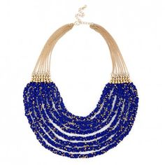 Layered Beaded Cobalt Necklace