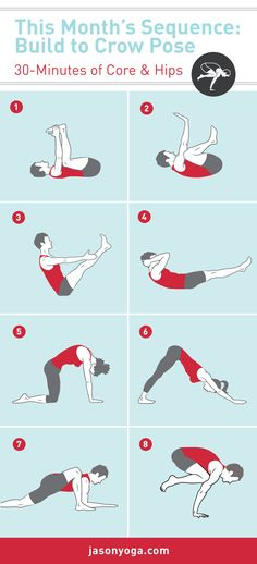 16 poses to help you get into Bakasana (Crow Pose). Full sequence on the blog!