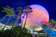 https://flic.kr/p/uKDas5 | Spaceship Earth and the Trees | Yet another Spaceship Earth shot but this time from an angle I don't believe I've done before. Enjoy.
