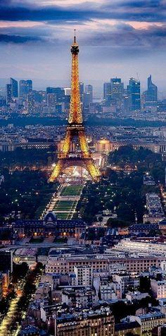 Eiffel Tower at Sunset, #Paris, #France