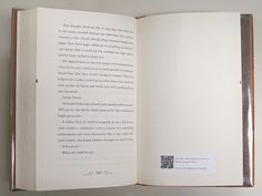 QR code label in book