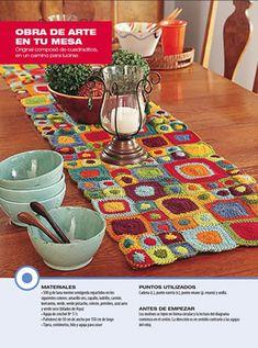 Camino de mesa - Deco Crochet                                                                                                                                                                                 Más