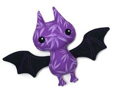 Perfect for halloween, bat sewing pattern.