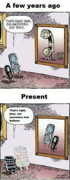 Phone evolution.
