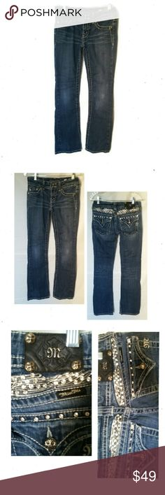 """Miss Me Boot Cut Low Rise Jeans Miss Me Boot Cut Low Rise Jeans. Size 27. ID JP5011-4L  L38"""" R7"""" I31"""" EUC (MM1) Miss Me Jeans Boot Cut"""