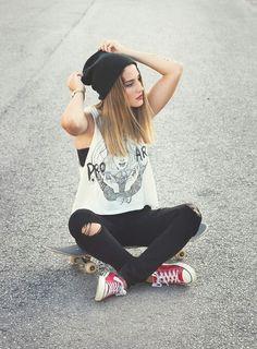 Skateboard Hipster