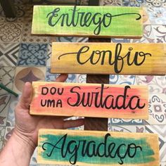 Positive Phrases, Lettering Tutorial, Instagram Blog, Good Vibes Only, Wall Collage, Home Deco, Wood Art, Diy Design, Decoupage