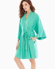 Soma Cool Nights Short Robe Ocean Green