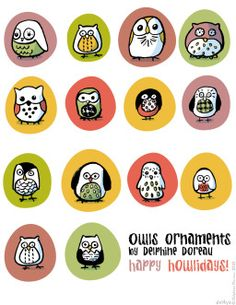 Le lapin dans la lune - Non dairy Diary - But really?Owls!