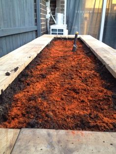 Finally full of dirt. But the dog enjoyed it too much........so now it's covered in cayenne pepper. That stopped him.