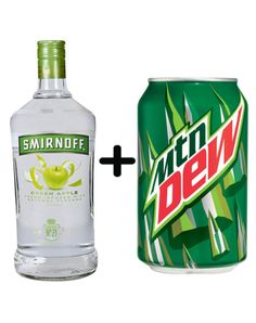 Green Apple Vodka and Mountain Dew Here Are 15 Unexpected Boozy Combos You Might Actually Love Drinks Here Are 15 Unexpected Boozy Combos You Might Actually Love