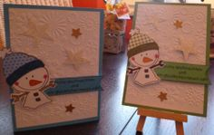 Karte, Weihnachten, Winter, Schneemann