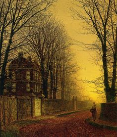 "classic-art:  "" Autumn Gold  John Atkinson Grimshaw, 1880  """