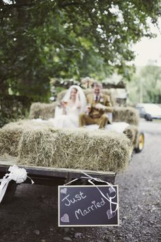Hannah and Martyn�s Beer, Hay Bales and Tractor Loving Yorkshire Wedding. By Mark Tattersall Farm Wedding, Tractor Wedding, Hay Bale Wedding, Dream Wedding, Wedding Cars, Blue Wedding, Wedding Dreams, Wedding Receptions, Wedding Ceremony