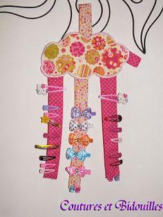 coutures & bidouilles: Tuto du porte-barrettes...