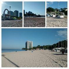 Praia da Ponta Negra `a beira do rio negro em Manaus/Amazonas